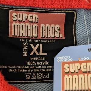 Nintendo Sweaters - ThinkGeek Men's Mario Bros Christmas Sweater, XL